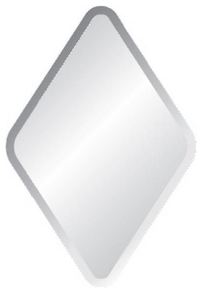 """22""""x34"""" Diamond Frameless Mirror With Polished Beveled Edges."""