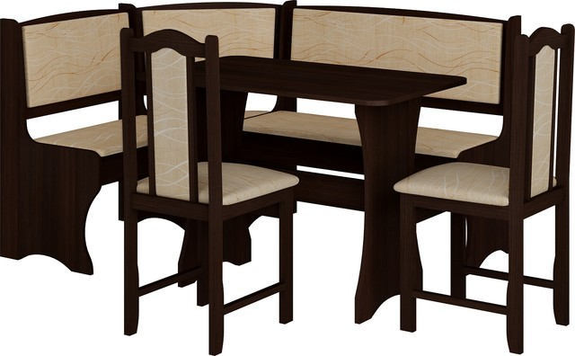 breakfast kitchen nook table set l shaped storage bench with chairs transitional dining. Black Bedroom Furniture Sets. Home Design Ideas
