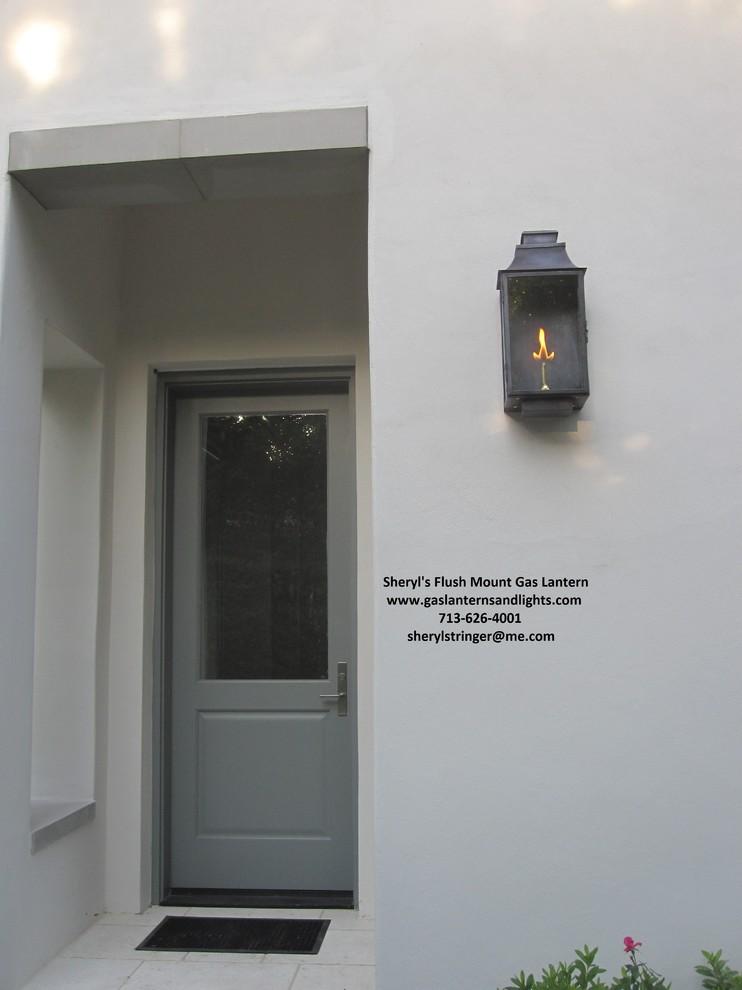 Sheryl's Flush Mount, Bellaire, Santa Barbara, Ornate Gas Lanterns