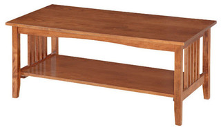 Osp Designs Sierra Coffee Table In Ash Finish Craftsman