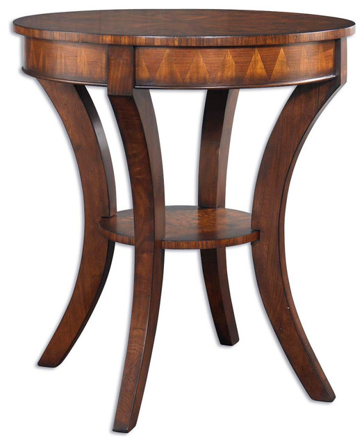 Uttermost 24015 Ericson Round Lamp Table Contemporary Side Tables And End