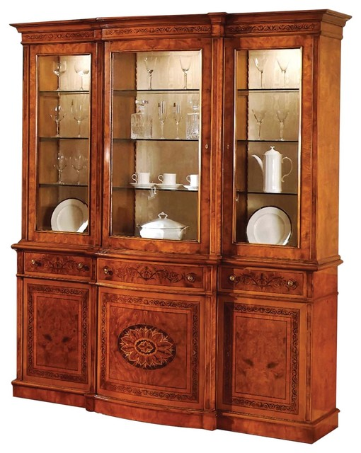 walnut kitchen cabinet breakfront david michael formal burl 3341