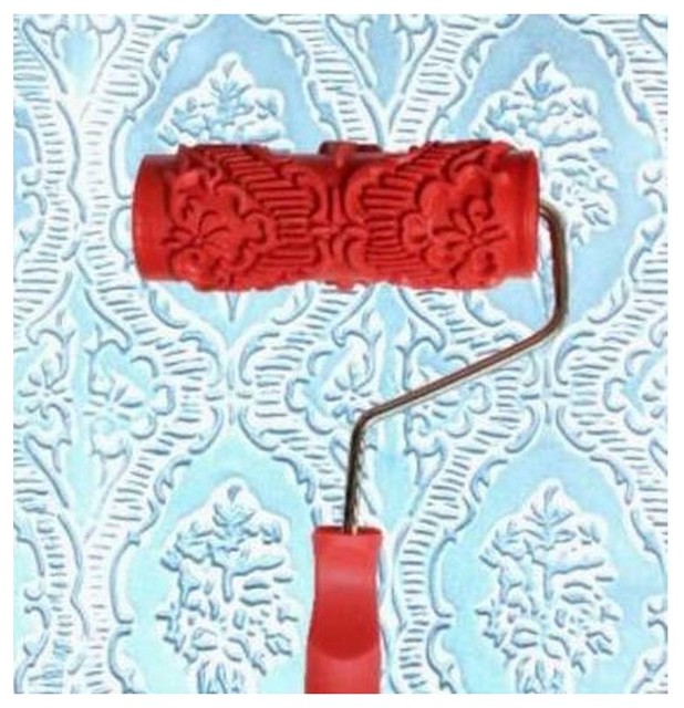 Embossed Paint Roller Wall Painting Runner Wall Decor Diy Tool, Pattern 25.