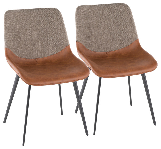 Fantastic Lumisource Outlaw 2 Tone Chair With Espresso Pu Leather And Brown Set Of 2 Ncnpc Chair Design For Home Ncnpcorg