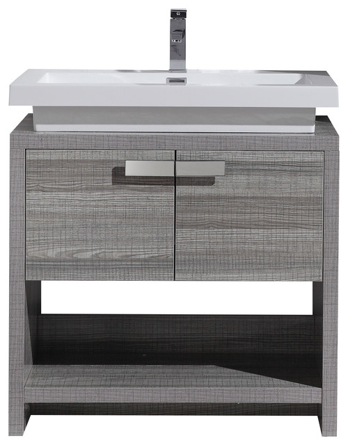 bathroom vanity with sink on right side designer units melbourne contemporary high gloss hole ash gray