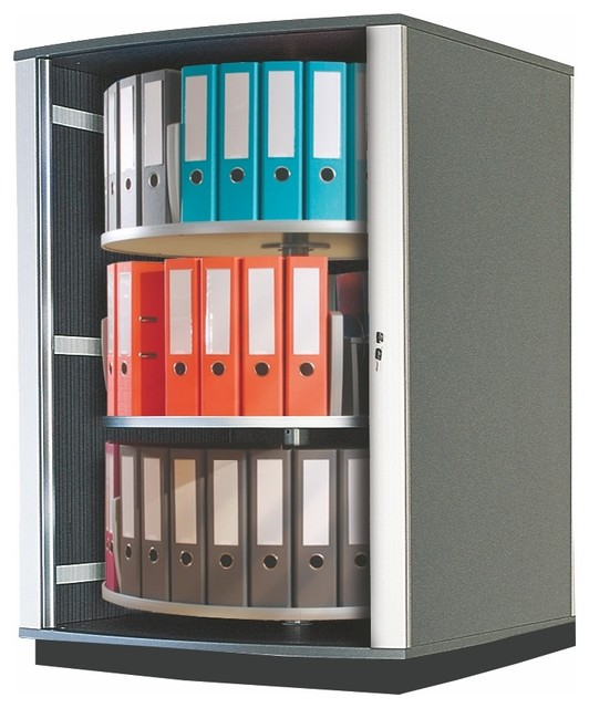 Moll Lockfile Binder and File Carousel Cabinet, Three Tier ...