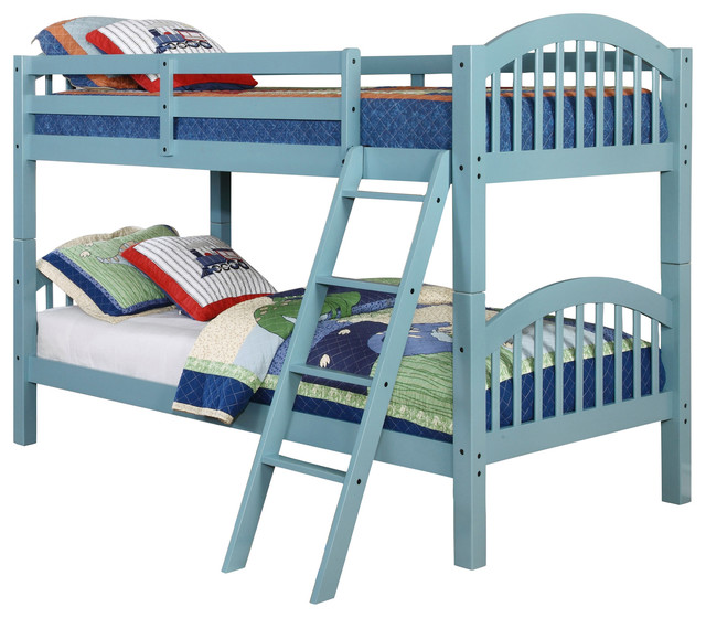 Westchester Bunk Bed, Twin Over Twin, Seafoam.