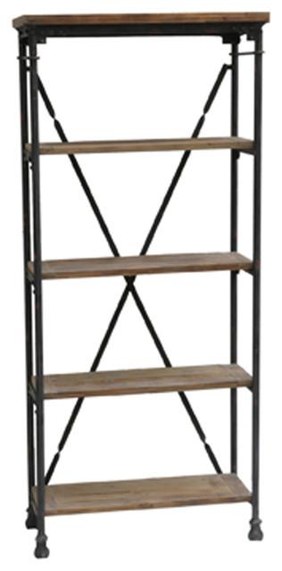 Crestview Collection CVFZR308 Industria Bookcase Industrial Bookcases