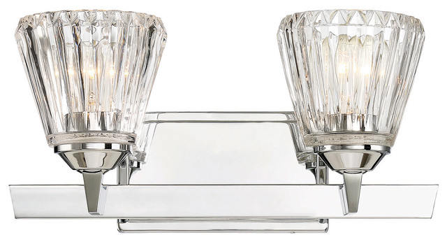 Dresden 2 Light Bath Bar Chrome
