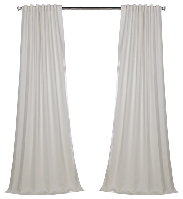 "Blackout Curtain Panel Pair, Smokey Cream, 50""x96""."