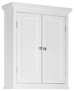 Slone Wall Cabinet 2 Shutter Doors - Transitional - Bathroom Cabinets And Shelves - by Elegant ...