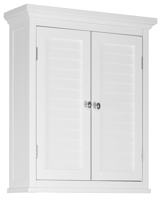 Slone Wall Cabinet 2 Shutter Doors Transitional Bathroom Cabinets And Shelves By Elegant