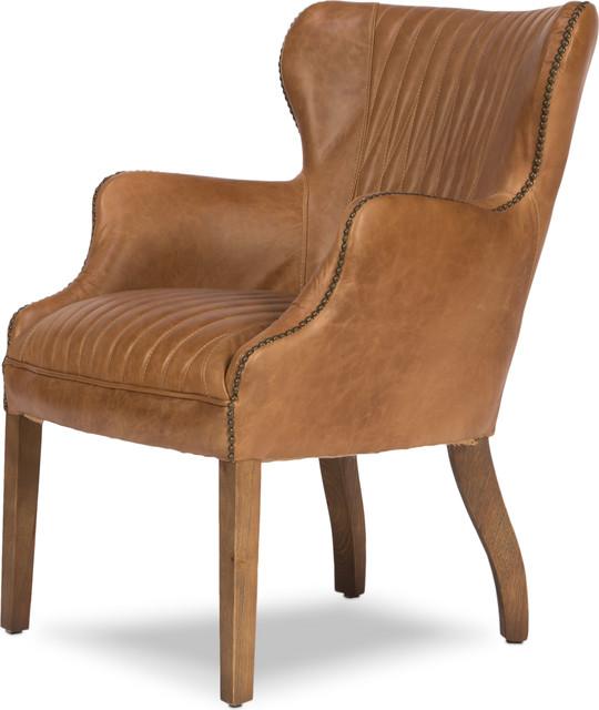 Disel Single Chair, Brown by Sarreid Ltd.