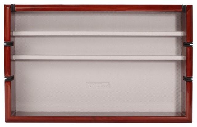 Oyobox Luxury Unisex Tech Tray Mahogany Electronics Organizer Wooden Tray.