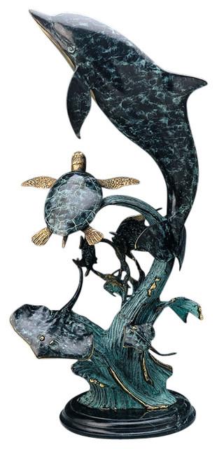 Dolphin Seaworld Sculpture
