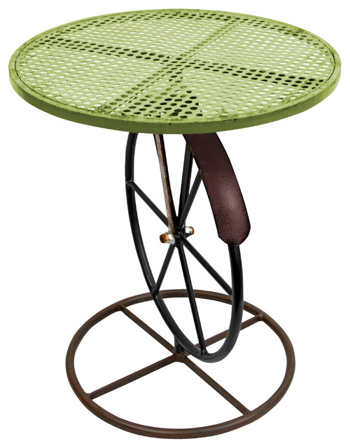 Small round garden table industrial plant stands and telephone tables by red carpet studios - Guarding dragon accent table ...