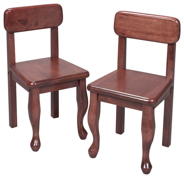 aof queen anne chairs cherry set of 2