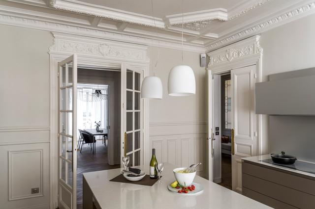 haussmannien et contemporain paris 17e contemporain paris par agence v ronique cotrel. Black Bedroom Furniture Sets. Home Design Ideas