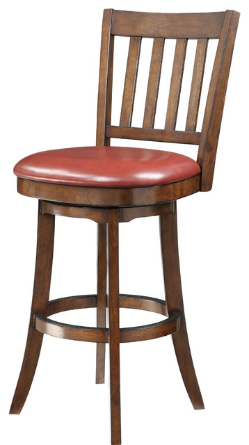 Mission Swivel Barstool Transitional Bar Stools And