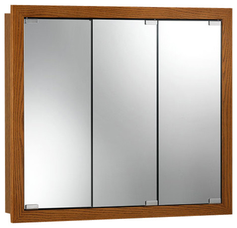 "Granville 36""x30"" Surface Mount Honey Oak Medicine Cabinet."