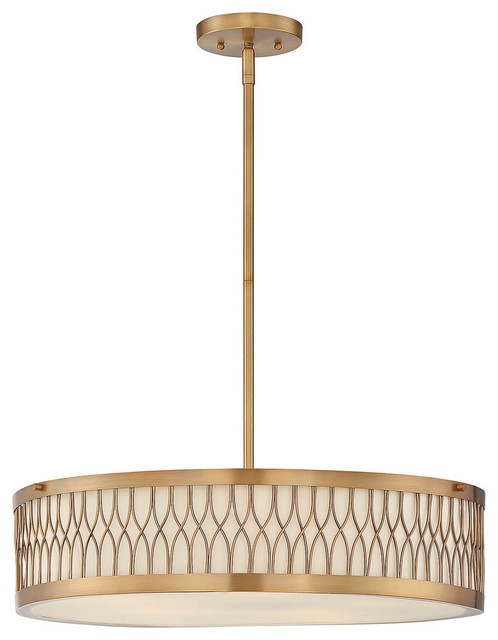Shop Houzz  Savoy House Savoy House Spinnaker Drum Shade Pendant