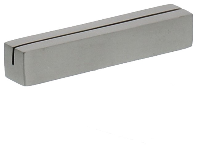 Silver Iron Place Card Holder SetNickel Metal Triangle Bar Simple