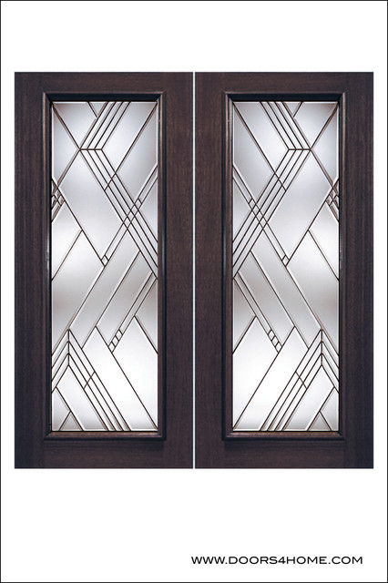 Exterior And Interior Beveled Glass Doors Model 800
