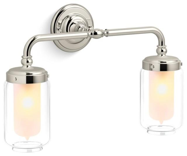 "Kohler K-72582 Artifacts 2 Light 18-1/4"" Wide Bathroom Vanity Light"