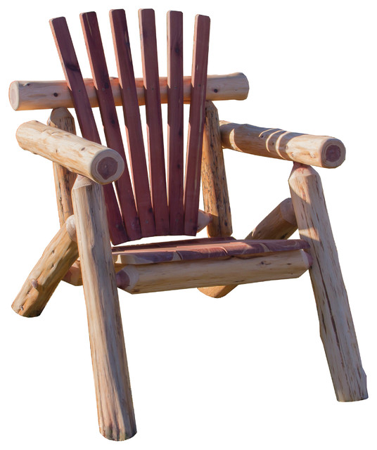 Red Cedar Log Outdoor Adirondack Chair
