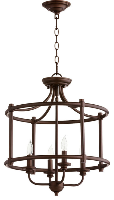 Semi Flush Mount 4-Light With Oiled Bronze Candelabra Base Bulb 18 240w.