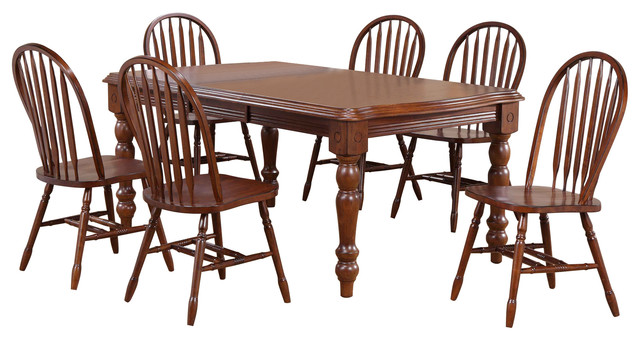 Bordeaux Chateau 7-Piece Extension Dining Set With Chairs.