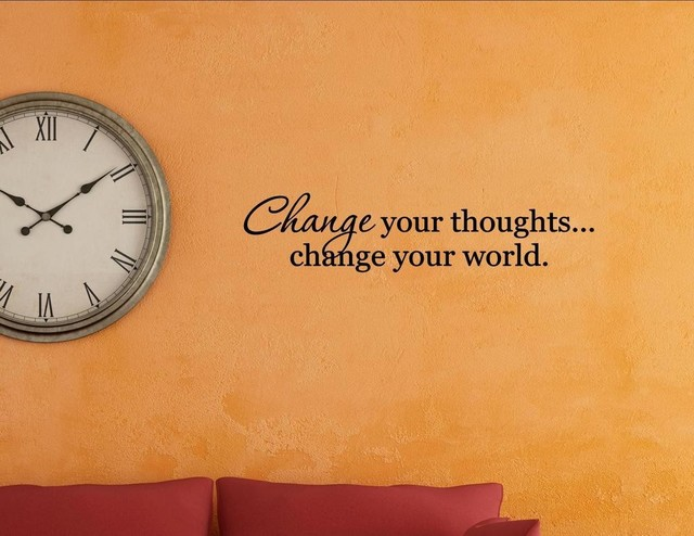 Change Your World., Wall Decor Stickers   Contemporary   Wall Decals   By  Vinylsay LLC
