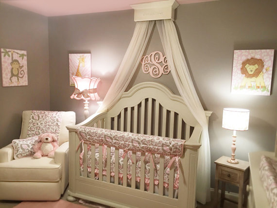 bed crown canopy shabby chic style nursery detroit by the chic decor shop. Black Bedroom Furniture Sets. Home Design Ideas