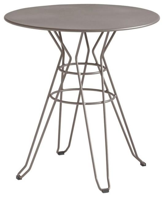 Table De Jardin Design Ronde D60 Alameda Couleur Taupe