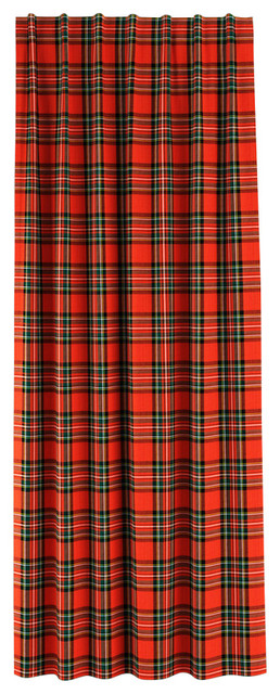 """Blackout Curtain, Single Panel, Ancient Stewart Red, 50""""x63""""."""