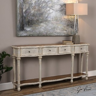 Uttermost 24583 Gaultier Aged White Console Table