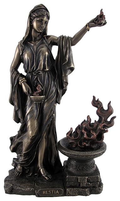 Decorative Statues For Living Room India: Greek Goddess Hestia Bronzed Statue Roman Vesta