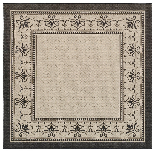 Safavieh Neo Rug, Sand And Black, 6&x27;7x6&x27;7.