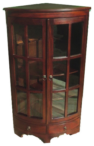 D Art Collection Home Decorative Mahogany Corner Cabinet Pi Furniture