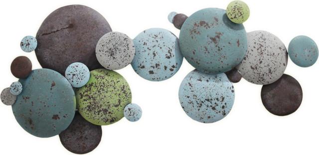 Earth Tone Metal Circles, Multi.