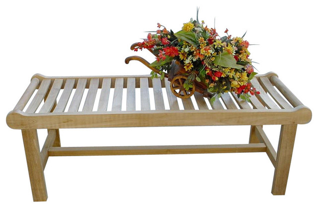Cambridge 2 Seater Backless Bench Unfinished Contemporary Outdoor Benche