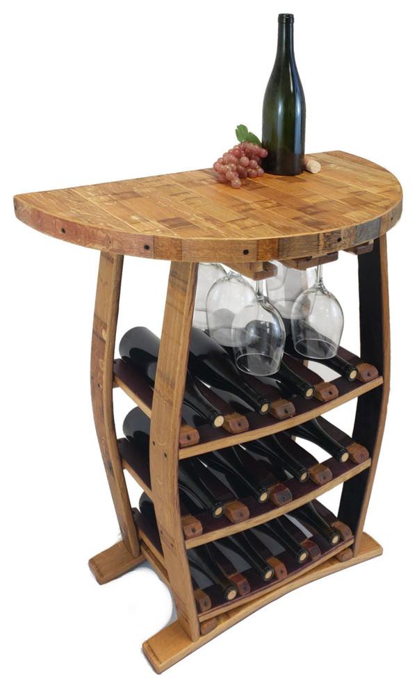 Half Moon Wine Rack 12 Bottle 6 Wine Glass Rustic Wine Racks By Central Coast Creations