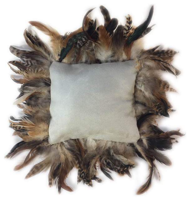 Feather Trimmed Pillow