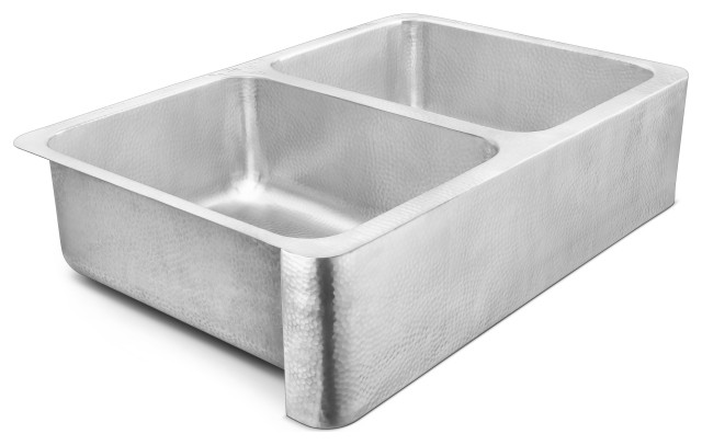 "Anning Farmhouse Apron-Front Stainless 32"" Kitchen Sink, Brushed Stainless Steel"