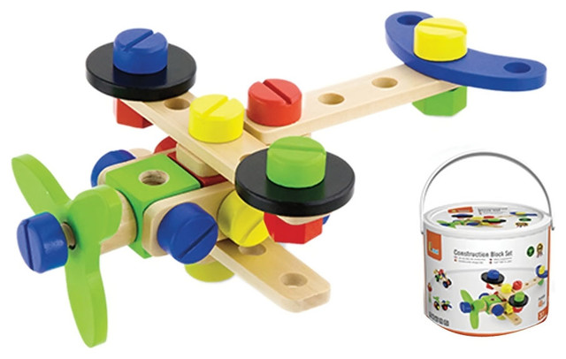 Kids Construction Block Set Contemporary Toys And