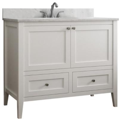 Vincent 2 Drawer Bathroom Vanity White 42