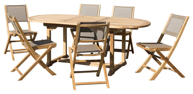 Taupe 7-Piece Outdoor Dining Set