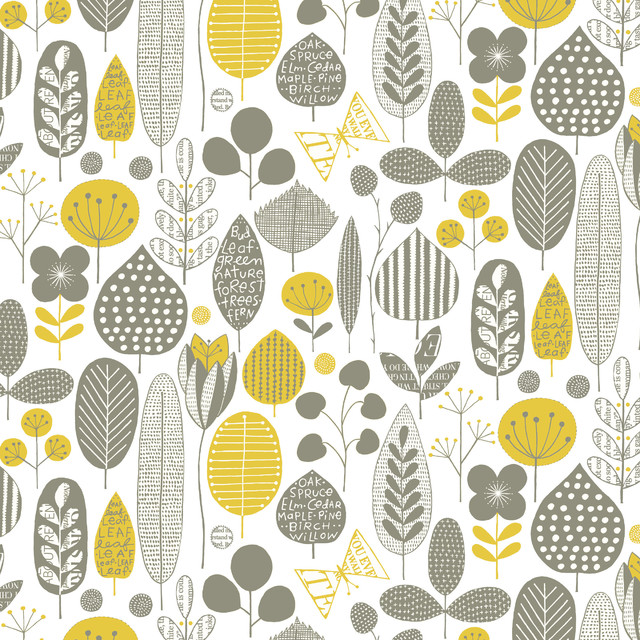 Meadow Midcentury Wallpaper By Loboloup