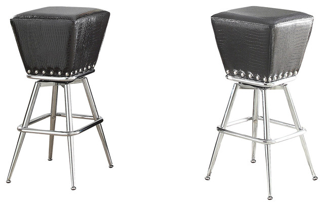 Acme Furniture Patrick Bar Stool Black Crocodile PU and  : midcentury bar stools and counter stools from www.houzz.com size 640 x 408 jpeg 48kB