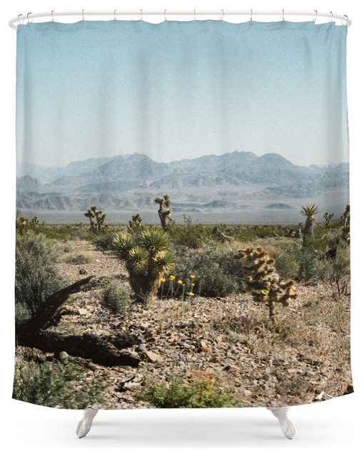Society6 Nevada Desert Scene Shower Curtain Contemporary Shower Curtains
